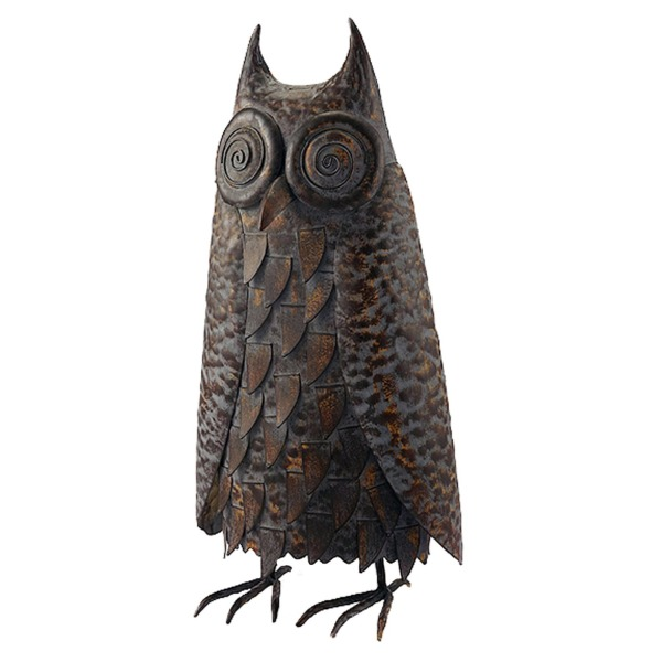 Large Metal Hoot Owl