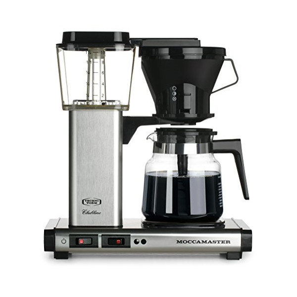 Moccamaster KB 741 10-Cup Coffee Brewer with Glass Carafe, Brushed Silver