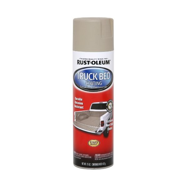 Rust-Oleum Automotive 253438 15-Ounce Truck Bed Coating Spray, Tan