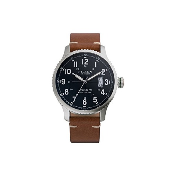 Filson Mackinaw Field Leather Watch Navy, One Size