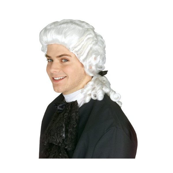 Rubie's Costume Colonial Judge Wig, White, One Size