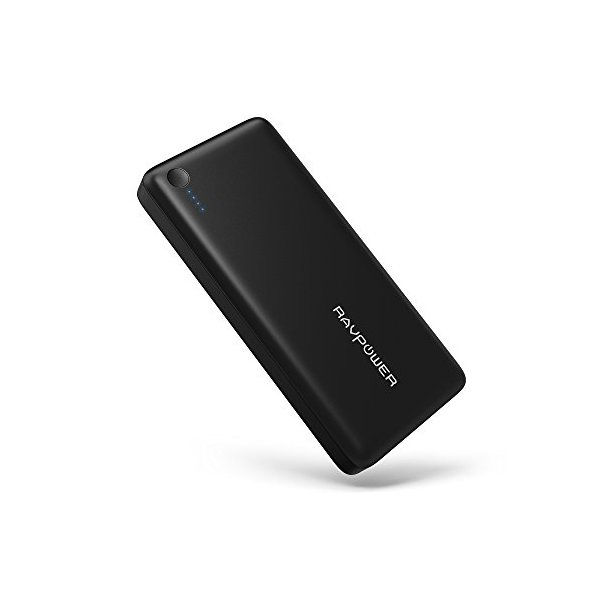 [26800mah Huge Capacity + Powerful 5.5A Output] RAVPower Portable Charger 3-Port External Battery Pack with iSmart Technology Power Bank for iPhone, iPad and Samsung Galaxy and More - Black