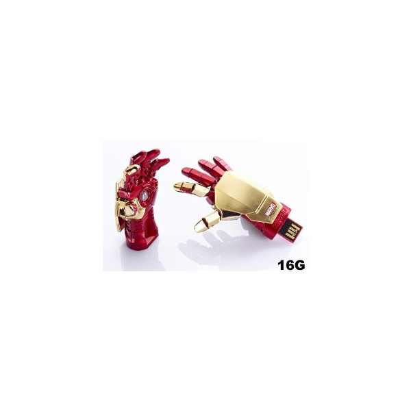 INFO THINK MARVEL AVENGERS USB FLASH DRIVE 16GB IRON MAN 3 MARK 42 HAND LED NEW
