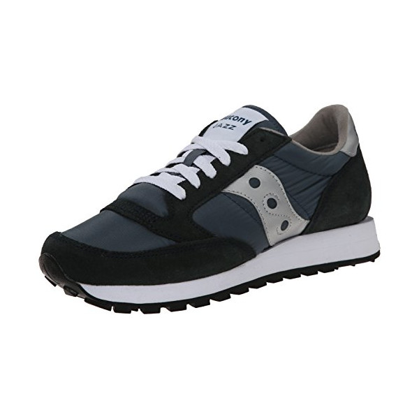 Saucony Originals Men's Jazz Sneaker,Navy/Silver,10 M