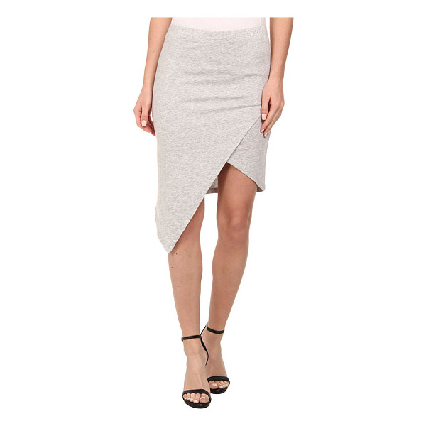 Alternative Modal Heather Asymmetrical Skirt, Heather Grey
