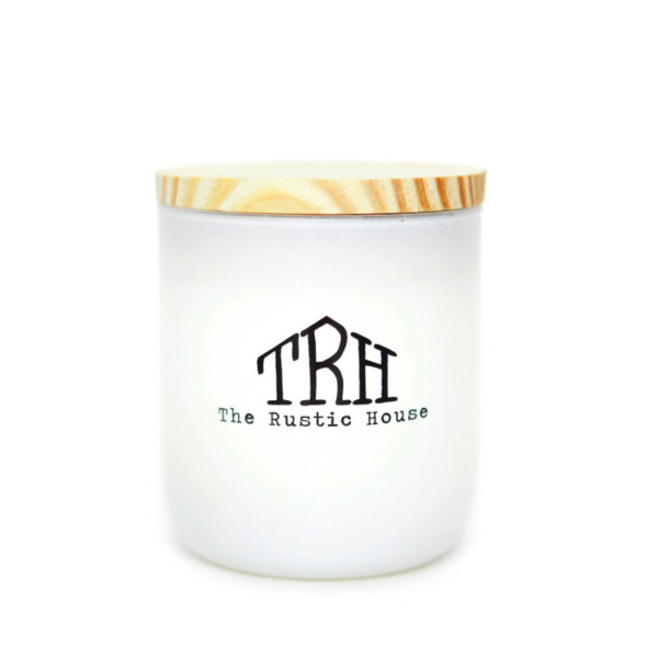 The Rustic House, Hand Poured Candle, Teakwood, 50 Hour Burn Time