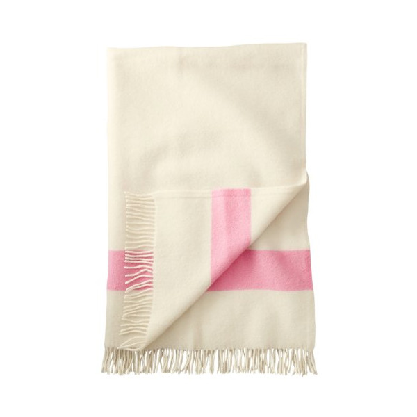 Hudson Bay Capote Throws PINK STRIPE