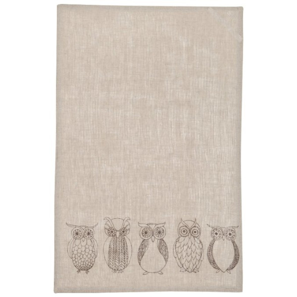 Danica Studio Linen Teatowel, Night Owl