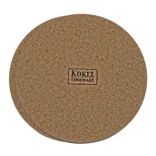 Large Cork Trivets by Kokel Cookware - Set of 2 - 9 Inch Round