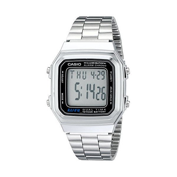 "Casio Men's A178WA-1A ""Illuminator"" Stainless Steel Watch"