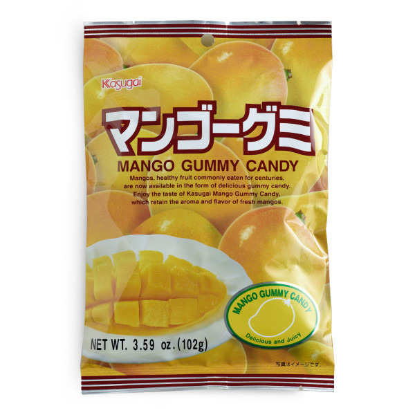 Kasugai Fruit Gummy Candy, Mango