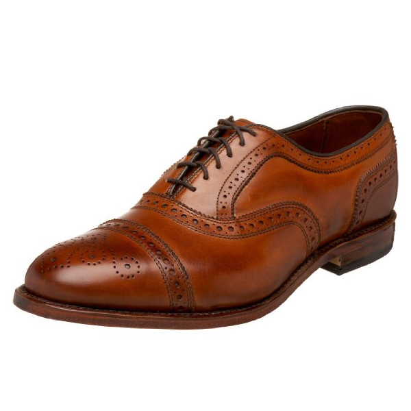 Allen Edmonds Men's Strand Cap Toe With Perfing,Walnut,9.5 D US