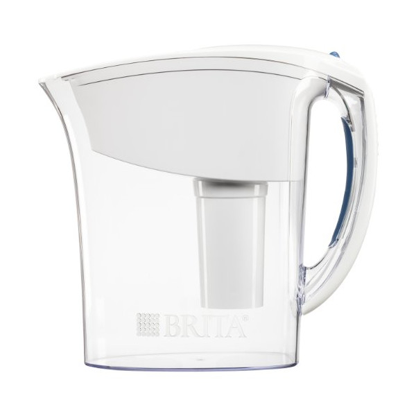Brita Atlantis Water Filter Pitcher, White