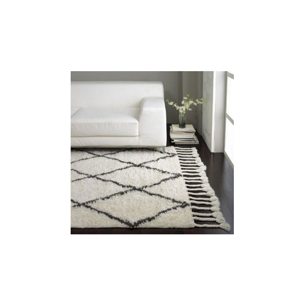 nuLOOM SPRE14A-8010 Venice Collection 100-Percent Wool Area Rug, 8-Feet by 10-Feet, Moroccan, Natural