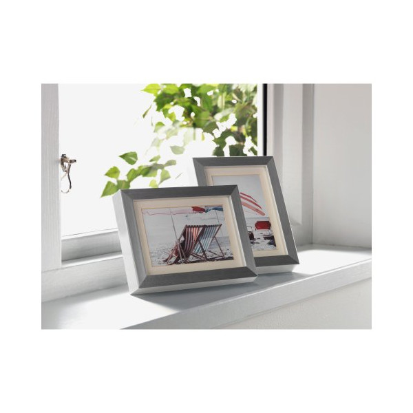 Ikea Ribba 5x7 Picture Frame. Aluminum. Set of 2