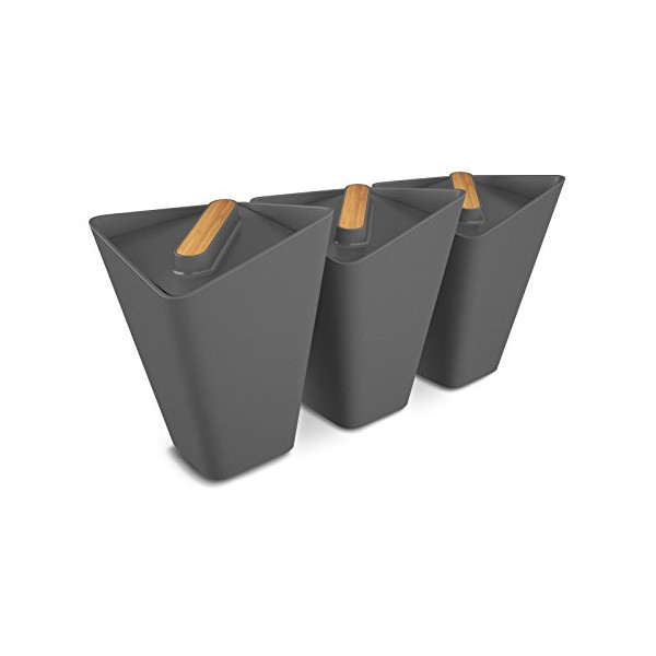 Black+Blum Forminimal Storage Jars x 3 (Grey)