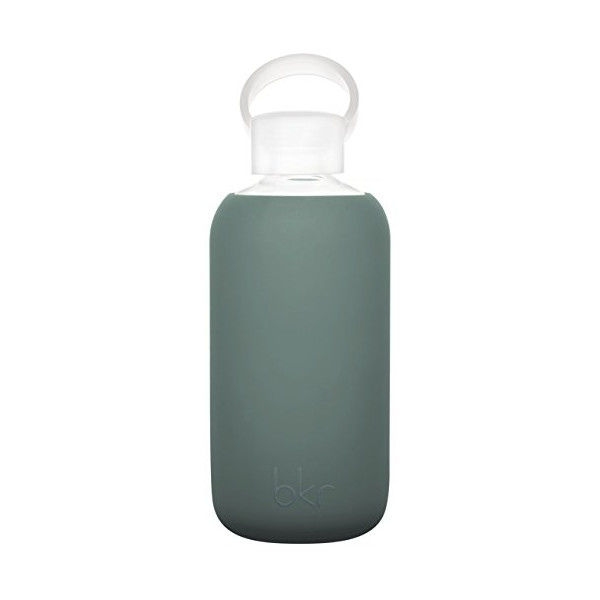 bkr® bottle : bubbly glass water bottle + soft silicone sleeve (Scout)