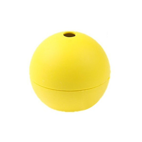 Foxnovo Portable Sphere Shaped DIY Silicone Ice Cube Tray Ice Ball Maker Mold Mould (Yellow)