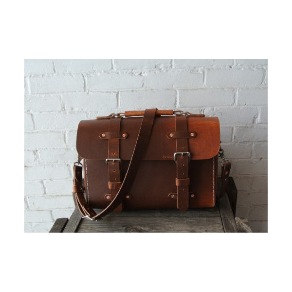 No.29 | Rugged Leather Computer Shoulder Messenger Bag Men's Satchel