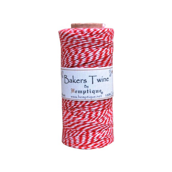 Hemptique Baker's Twine Spool 50-Gram, Red