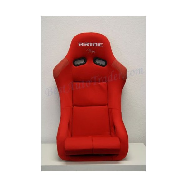 PAIR of BRIDE VIOS LOW MAX RACING SEATS RED CLOTH BLACK FRP ZETA GIAS JDM BUCKET