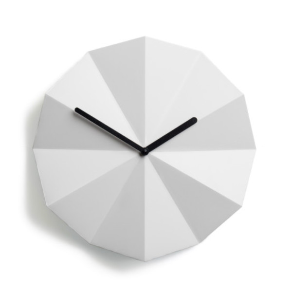 Modern Danish Design Wall Clock by LAWA Design, 11 Inches,  White