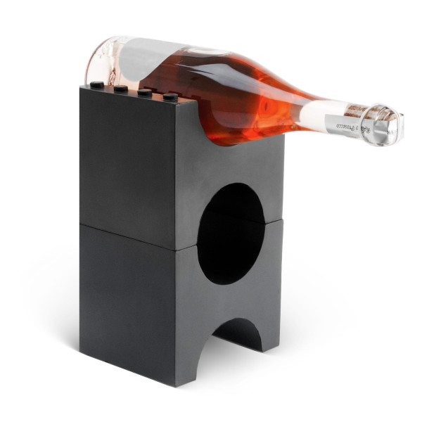 Present Time Brick Wine Holder Set, Anthracite Grey