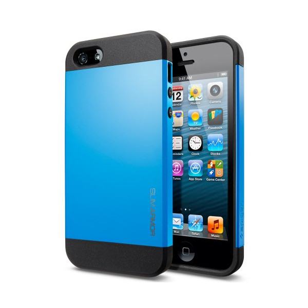 Spigen SGP Slim Armor Color Case for iPhone 5, Dodger Blue