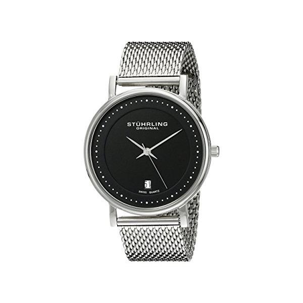 "Stuhrling Original Men's 734GM.02 ""Ascot Casatorra Elite"" Swiss Quartz Date Stainless Steel Mesh Bracelet Watch"