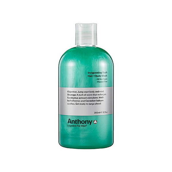 Anthony Logistics for Men Invigorating Rush Hair + Body Wash - 12 fl oz