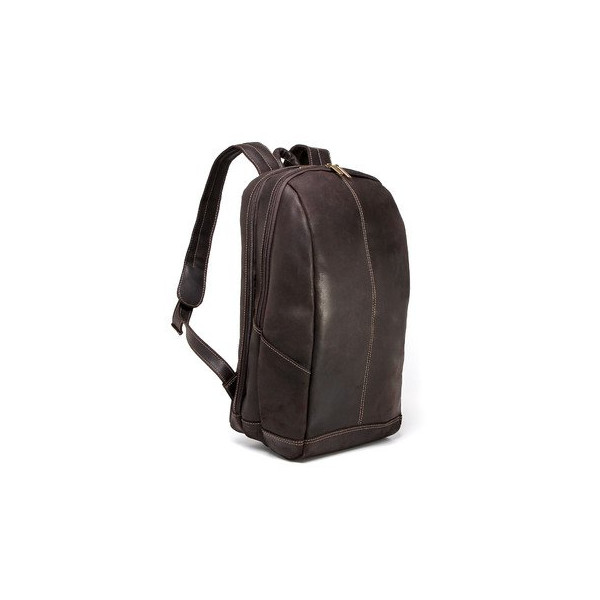 "Le Donne Leather Distressed Leather 17"" Laptop Backpack (Chocolate)"