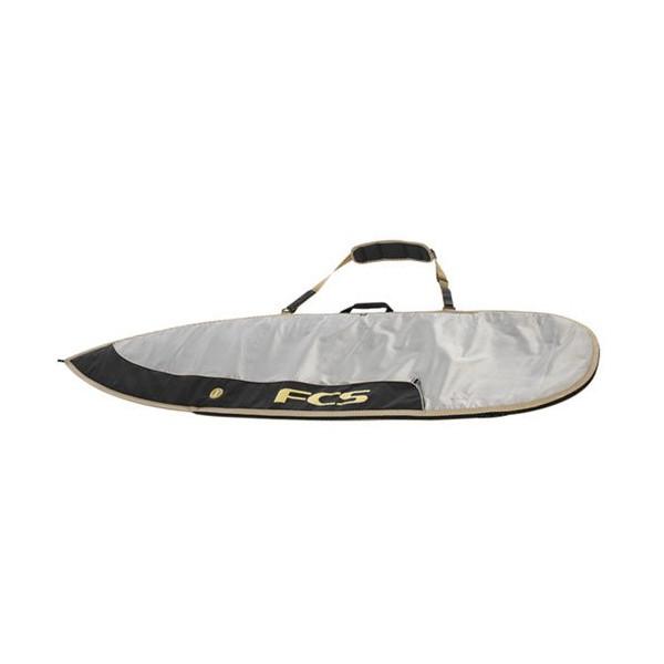 """FCS 6'7"""" Beige/Black Dayrunner Shortboard Day Bag - Alloy/Black/Beige"""