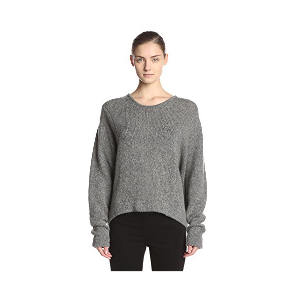 Helmut Lang Women's Lofty Felt Sweater, Grey, Small