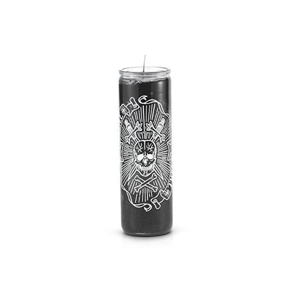 Skull (D.U.M.E) 7 Day 1 Color Prayer Candle Black