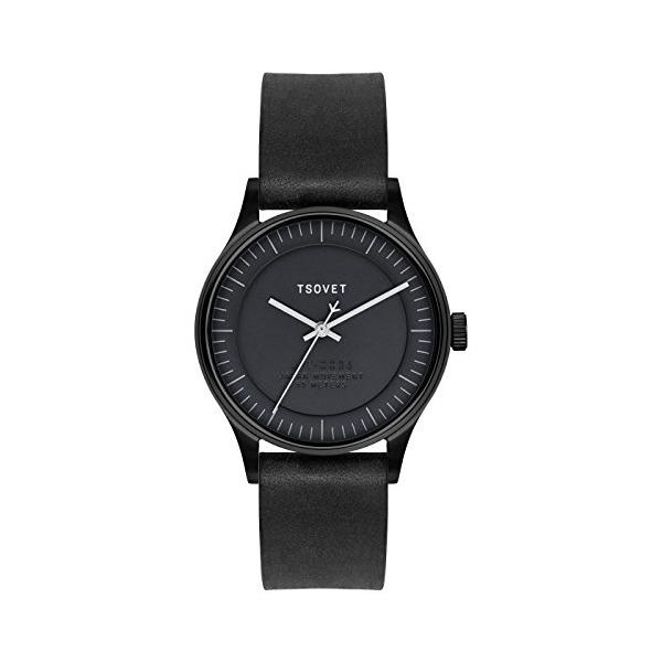 Tsovet JPT-CO36 CO331010-45 Black / Black Leather Analog Quartz Unisex Watch