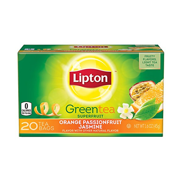 Lipton Green Tea, Orange Passionfruit Jasmine 20 ct