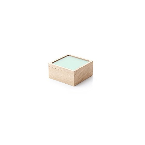 ObjectBox Small Wooden Storage Box - Ocean Green