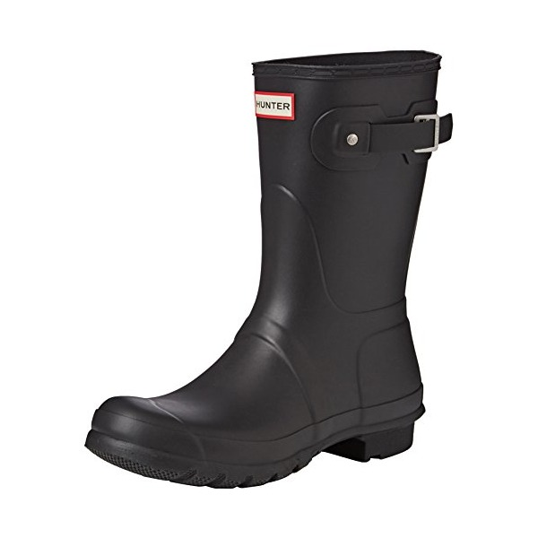 Hunter Womens Original Short Black Rain Boot - 8