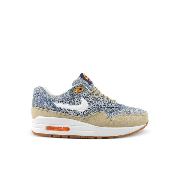 Nike Women's Wmns Air Max 1 Lib QS, LIBERTY-BLUE RECALL/WHITE-LINEN-ATOMIC MNG, 7.5 M US