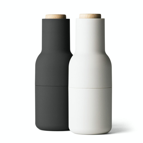 Menu 2-Pack Bottle Grinder, Small, Carbon/Ash Set