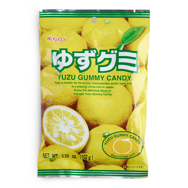 Kasugai Fruit Gummy Candy, Yuzu