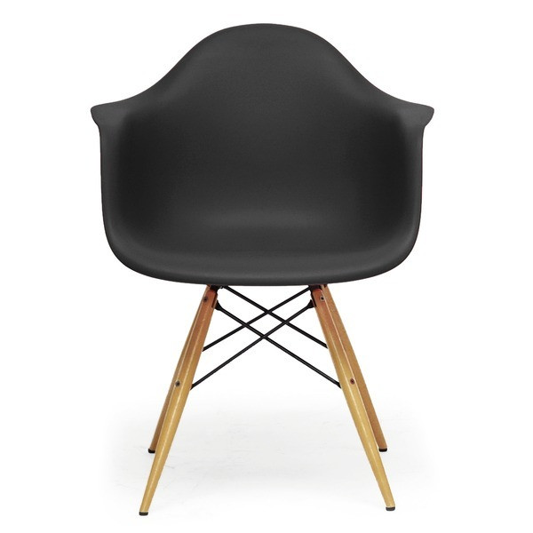 Baxton Studio Mid-Century Modern Shell Chair, Set of 2