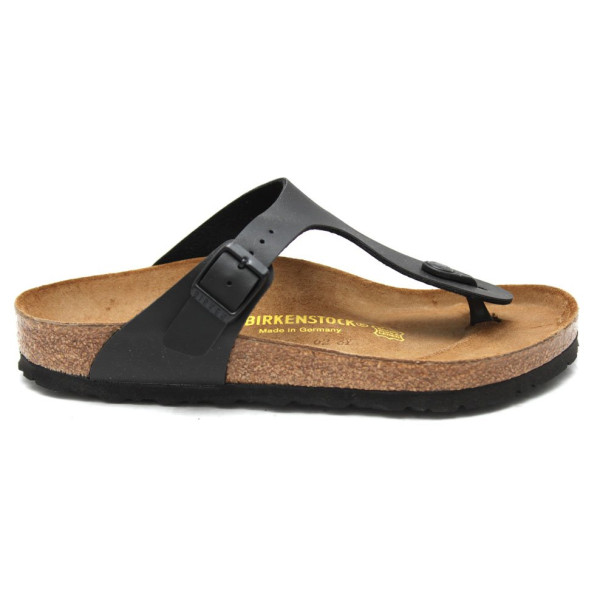 Birkenstock Women's Gizeh Thong Sandal, Black Leather