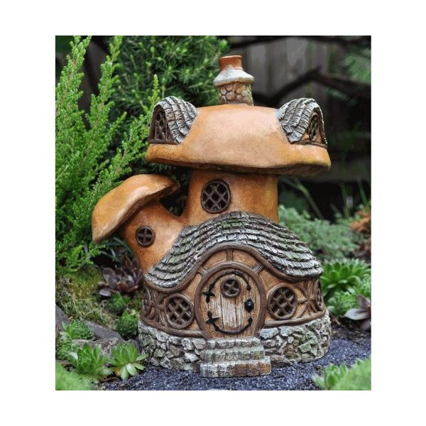 Fiddlehead Fairy Village - Fairy Garden Mushroom Tavern House