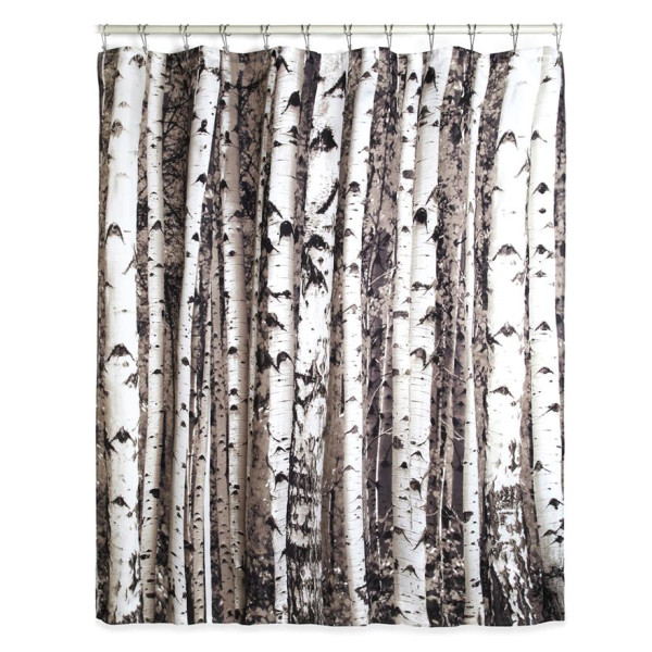 Kikkerland Shower Curtain, Birch