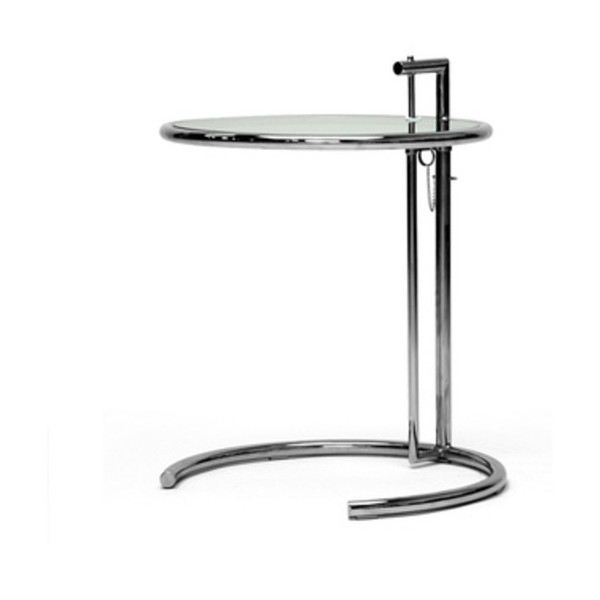 Baxton Studio Eileen Stainless Steel Accent Table, Gray