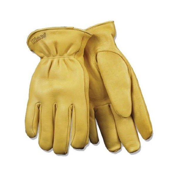 Kinco 90HK M Men's Deerskin Leather Glove, Medium, Golden Color