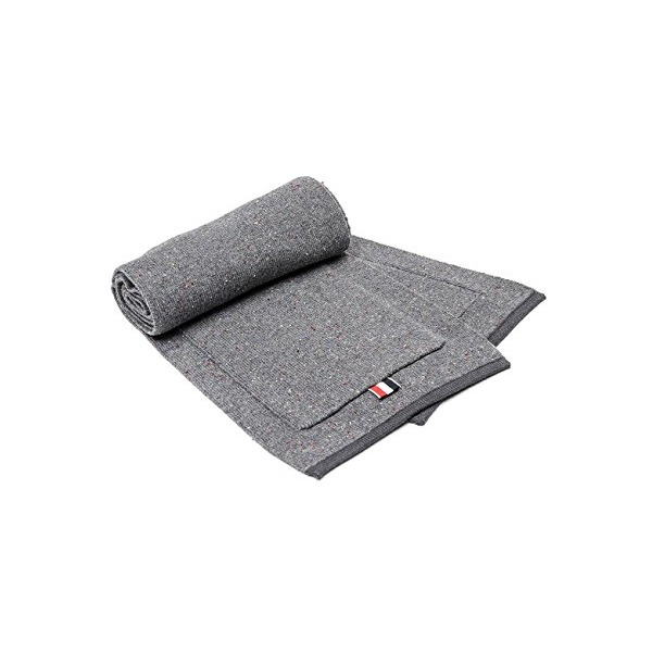Wiberlux Thom Browne Men's Flecked Wool Knit Scarf One Size Gray