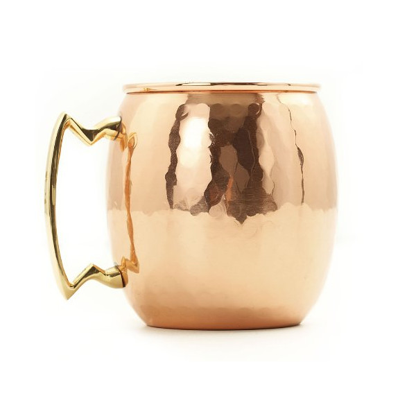 Old Dutch Solid Copper Hammered Moscow Mule Mug, Set of 4