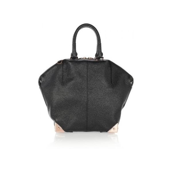 Alexander Wang Women's Emile Textured-Leather Tote Black One Size
